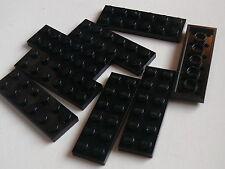Lego 8 plates noires set 8759 6887 9679 / 8 black plates