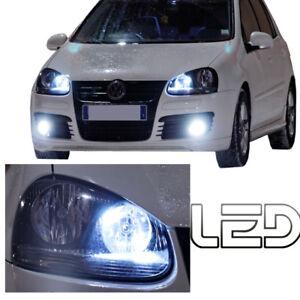 Volkswagen-GOLF-5-2-Ampoules-LED-blanc-eclairage-Veilleuses-feux-position-canbus
