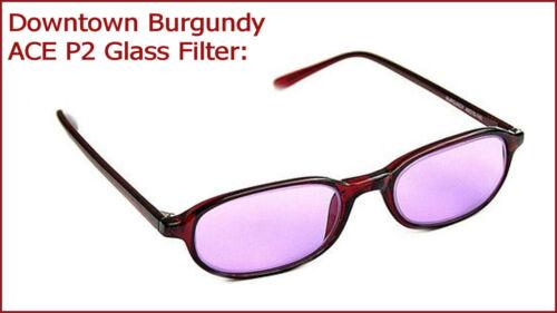 "dt-bu, con filtro de vidrio Av2000ace filtro gafas /""Downtown Burgundy/"""