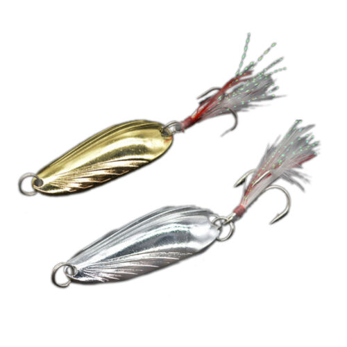 Sporting Goods fishing spoon lure metal lure silver/gold 7g 14g spoon bait hard lure cheap TB