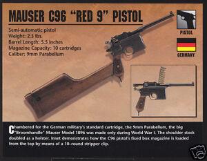 MAUSER C96 RED 9 PISTOL Germeny Hand Gun Firearms ATLAS