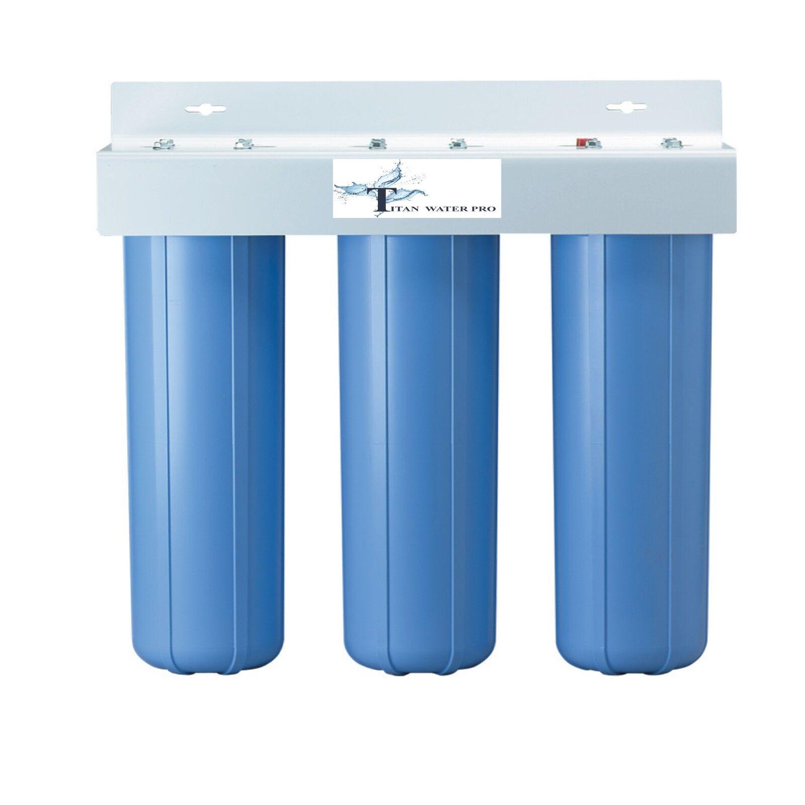 Triple Big bleu logement Filtres à Eau Tailles 4.5  X 20  (filtres non inclus)