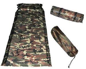 Tapis-Camping-matrress-Outdoor-Sleeping-Pad-Autogonflant-polyester-vert-kaki