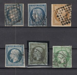 AG4878-FRANCE-1850-1860-USED-CLASSIC-LOT-CV-535