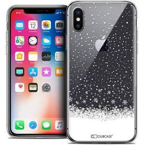 Coque-Crystal-Gel-Pour-iPhone-X-10-Extra-Fine-Souple-Noel-2017-Flocons-de-Neig
