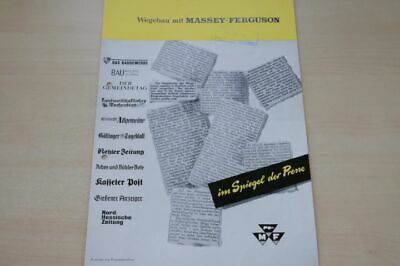 198853) Massey-ferguson - Pressespiegel - Prospekt 197? 100% Original