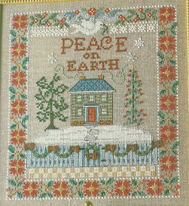 Peace-On-Earth-Sampler-Christmas-Cross-Stitch-Pattern-from-a-magazine-Holiday