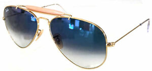 f40c56dd5 Image is loading RAY-BAN-3029-62-OUTDOORSMAN-II-GOLD-GOLD-