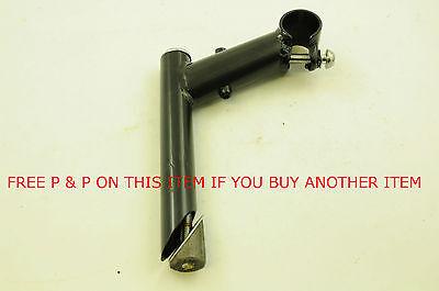22.2mm 60mm SHORT REACH HANDLEBAR STEM ADULT KIDS BIKE BLACK