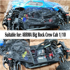 1PC Car Body Dust Prevention Mesh Cover for ARRMA Big Rock Crew Cab 1/10 Parts