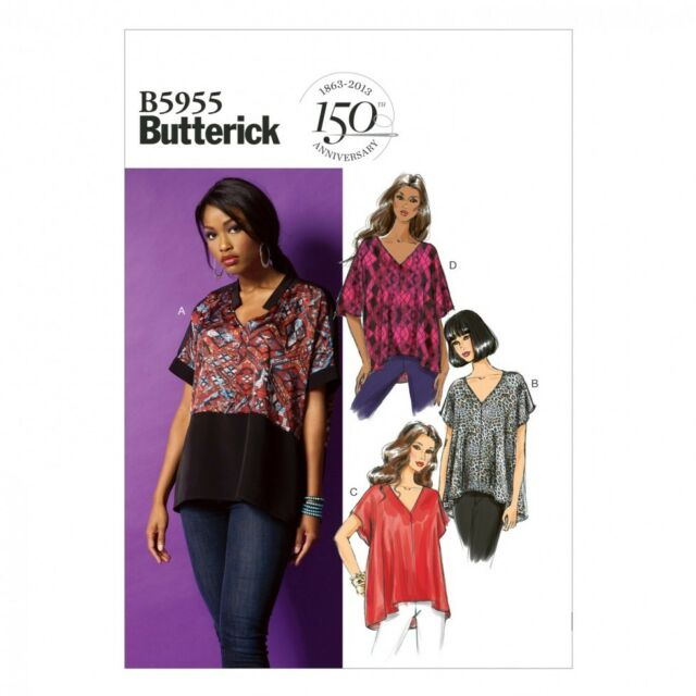Butterick Ladies Easy Sewing Pattern 6099 Loose Fit Pullover Tunic Tops Butt...