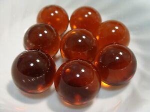 8 Vintage Jewel Gem Marbles 1IN Shooters Root Beer Brown Beautiful Set