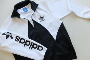 Posizionare fresa livello  Rare Adidas big logo trefoil tracksuit track jacket | L | Black white | eBay