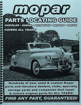 Find Chrysler Parts with this book 1953 1952 1951 1950 1949 1948 1947 1946 1942