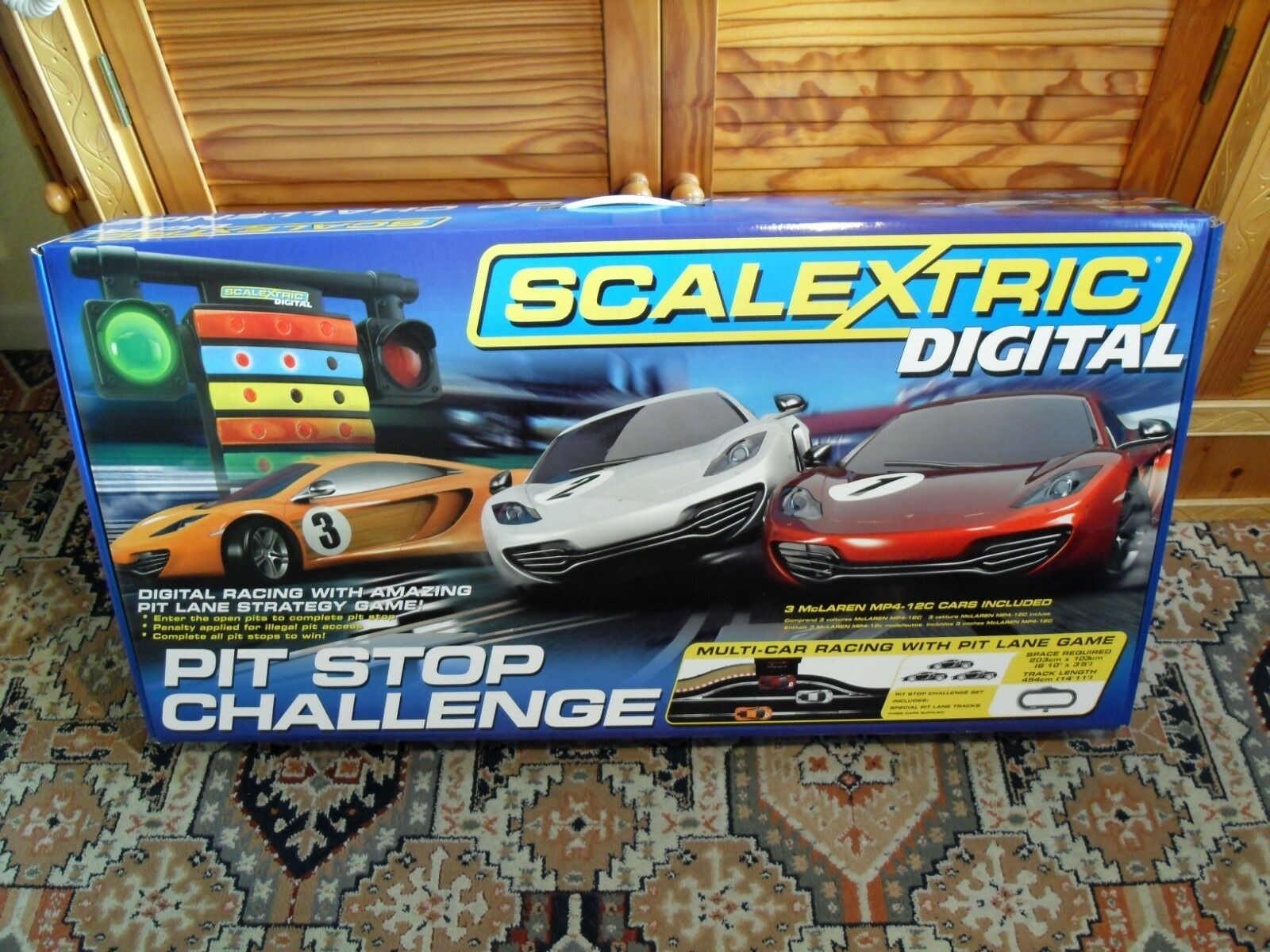 Scalextric Digital C1296 Pit Stop Challenge - Brand New still Factory Sealed.