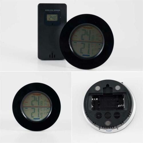 Funk-Thermometer Innen Funk-Wetterstation mit Außensensor /&  Außentemperatur