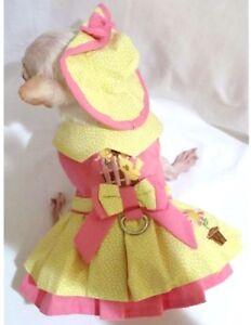 Harness-Dress-Dog-Dress-Dog-clothes-chihuhua-Little-Chick-XS-S-M-L-FREE-SHIP