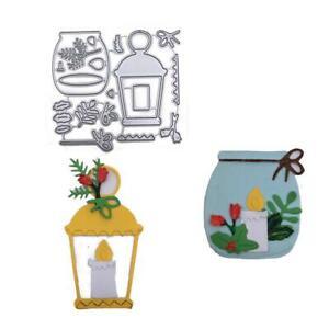 Fish-tank-candle-lantern-Metal-Cutting-Dies-Scrapbooking-Stencil-Embossing-DIY