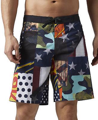 Reebok Super Nasty Board Mens Crossfit Shorts Ein Unbestimmt Neues Erscheinungsbild GewäHrleisten