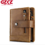 Unisex Genuine Leather Cowhide Wallet Trifold Credit Card ID Holder Zip Purse