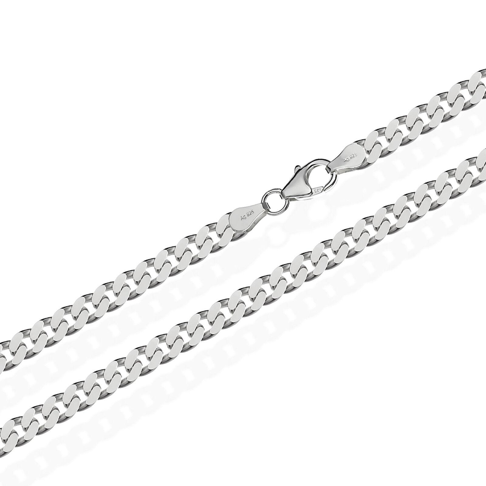 925 Sterling silver Kette PANZERKETTE 55cm Königskette 4,70mm Breit 27,5gr 1840