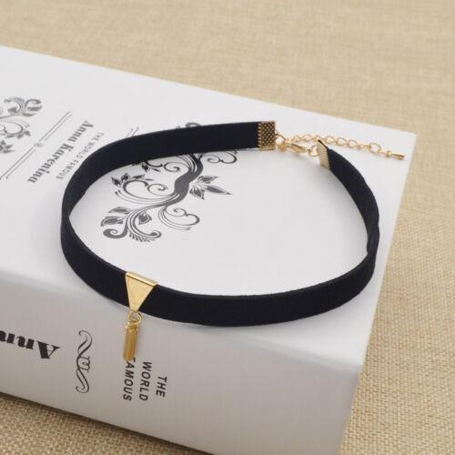 Black Velvet Chunky Collar Necklace Women Choker Bib Statement Necklace Jewelry
