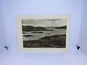 Old-antique-colour-print-The-Kyles-of-Bute-Scotland-27-x-19-cm