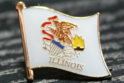 ** ILLINOIS ** STATE USA STATE Metal Lapel Pin Badge *NEW*