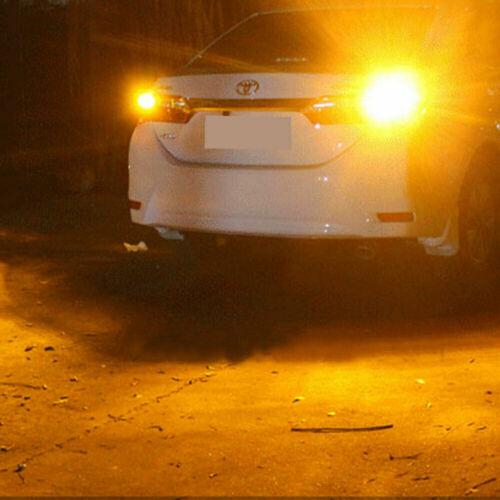2x W21W 144-SMD Amber Turn Signal Light 7440 T20 Bright LED Bulbs No Hyper Flash