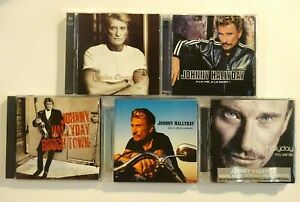 JOHNNY-HALLYDAY-lot-4-x-CD-Album-5-disques-1-DVD-bonus