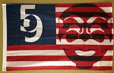 GIANT 5' MR. ROBOT F SOCIETY ELLIOT HACKER FLAG BANNER TV MOVIE ANONYMOUS