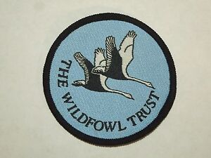 Vintage The Wildfowl Trust Slim Bridge Great Britain Woven Sew On Patch