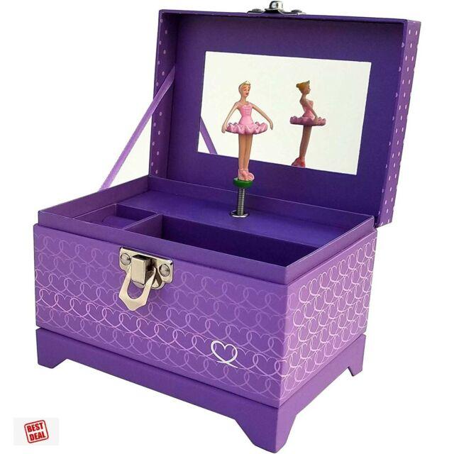 Tiny Musical Treasure Jewelry Box With Dancing Rotating ...