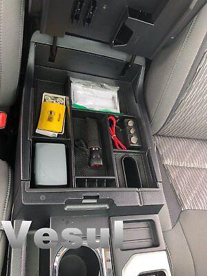 For 2014-2018 Toyota Tundra Center Console Organizer Armrest Storage Box Tray
