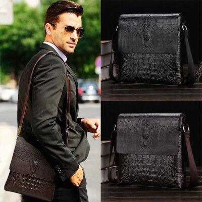 New Men/'s Soft Leather Messenger Bags Shoulder Bag Handbag Medium Briefcase Bag