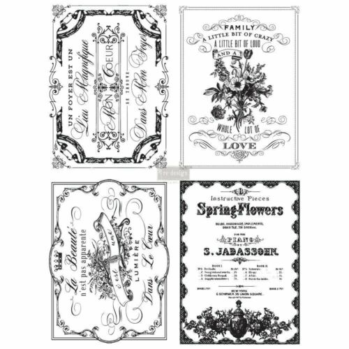 "Re-design Prima Spring Flowers Furniture Decor Transfer 4 Sheets 24/""x 32/"""