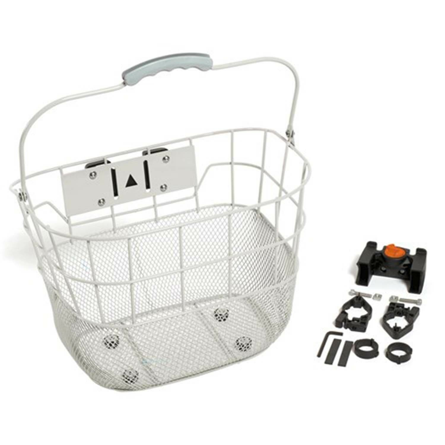 Removable Retro Look Wire Front Handlebar Bike Bicycle Carry Basket WHITE