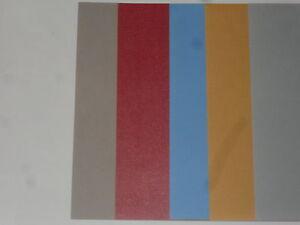 7 feuilles scrapbooking de couleur lin,rouge, bleu azur, ocre,gris ...