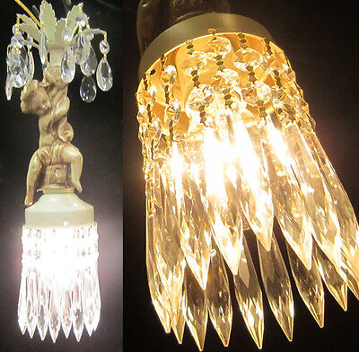 1 Cherub hanging Lamp SWAG shabby Chandelier lighting Crystal Paris appartment