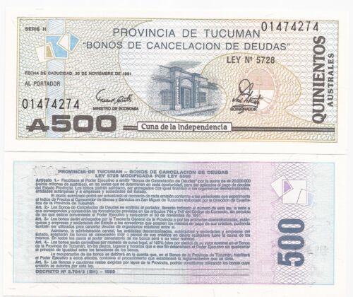 S-2716 UNC 30 PCS ARGENTINA TUCUMAN A 500