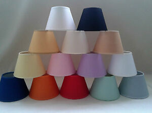 Paralume a molla in cotone colori vari per lampadari applique ebay