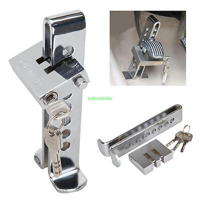 Car Brake Lock Auto 8 Holes Pedal Security Tool Anti-Thief Device Stainless Steel Clutch Lock Car Brake Lock Accessories Tool