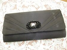 d86f7012bb4b item 2 LADIES MATALAN BLACK SHEEN ENVELOPE CLUTCH EVENING PARTY BAG WITH  BEAD DIAMONTE -LADIES MATALAN BLACK SHEEN ENVELOPE CLUTCH EVENING PARTY BAG  WITH ...