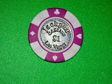 "One $1 Jackpot Casino Las Vegas Poker Chip ""Rare"" Use As Hole-Card Protector"