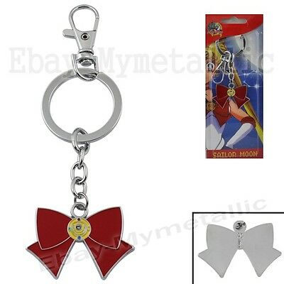 Sailor Moon Transformation Weapon Brooch Metal Pendant Key Ring Chain NIB