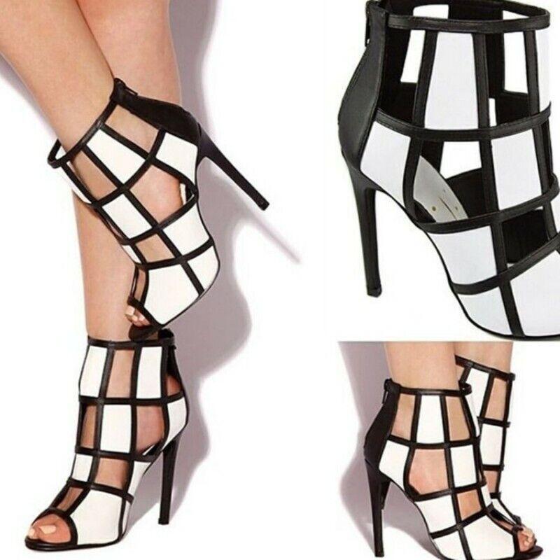 Mixed-Coloreeeee donna High Heel Gladiator Gladiator Gladiator Peep toe Summer Sandals Wedding Party Pump 74b0b1