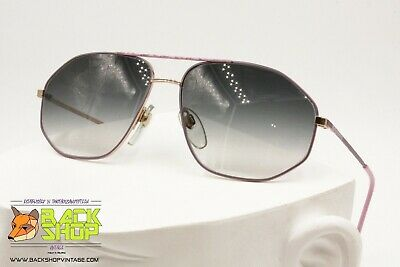 Schietto Pop Atelier Vintage 80s Aviator Sunglasses Men, Squared Double Bridge, Nos 1980s Ampia Fornitura E Consegna Rapida