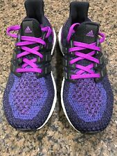 a5676ee062f Adidas Ultra Boost 2.0 Black   Purple Women s Running Shoes (AQ5935) Size  6.5