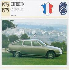 1973-1975 CITROEN GS BIROTOR Classic Car Photograph / Information Maxi Card
