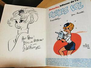 Bande-dessinee-BD-Natacha-DEDICACE-80-Walthery-edition-1979-Double-Vol-BE